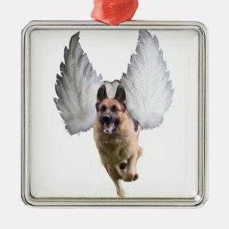 German Shepherd Angel Metal Ornament