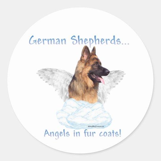 German Shepherd Angel Sticker
