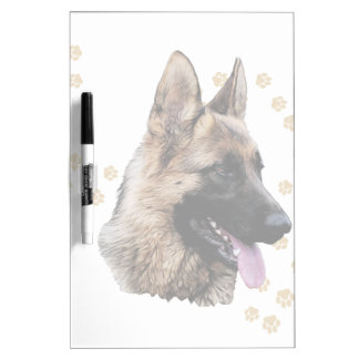 German Shepherd Art Dry Erase Board
