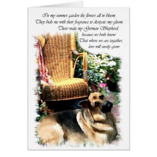 German Shepherd Art Gifts Card