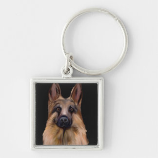 GERMAN SHEPHERD ART KEYCHAIN