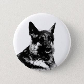 German shepherd badge 2 inch round button