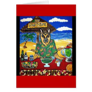German Shepherd Bartender Card