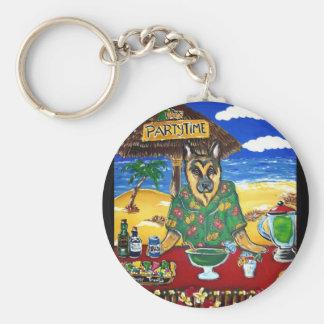 German Shepherd Bartender Keychain