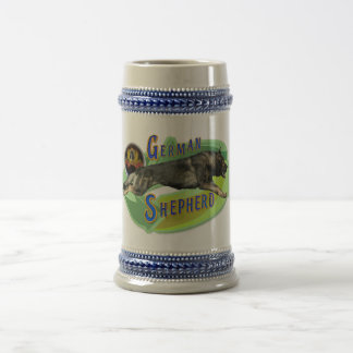 German Shepherd Beer Stein