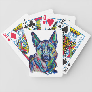 German Shepherd Bicycle Playing Cards