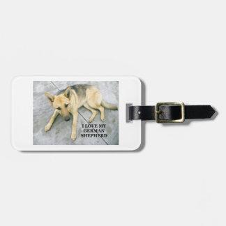german-shepherd-black and cream love w pic luggage tag