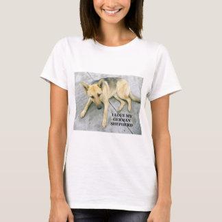 german-shepherd-black and cream love w pic T-Shirt