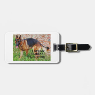 german-shepherd-black and red love w pic luggage tag