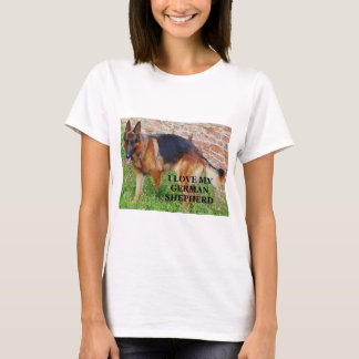 german-shepherd-black and red love w pic T-Shirt