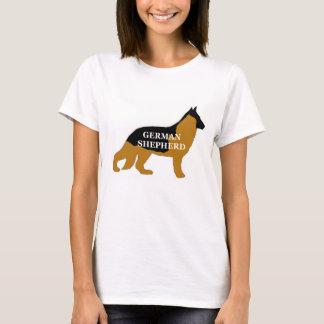 German Shepherd black and tan name silo T-Shirt