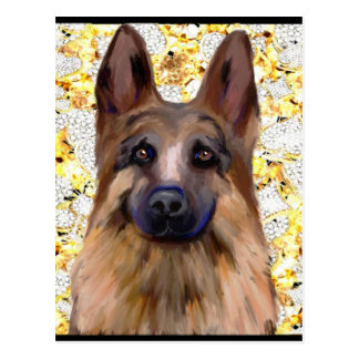 German Shepherd Bling Postcard