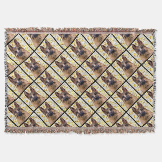 German Shepherd Bling Throw Blanket