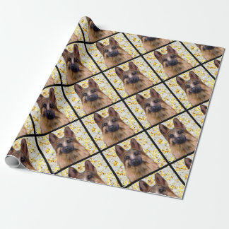 German Shepherd Bling Wrapping Paper