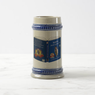German Shepherd Book Gray/Blue 18 oz Stein