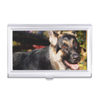 German Shepherd by Shirley Taylor Business Card Cases