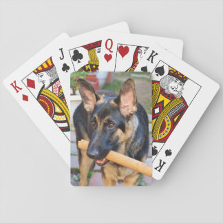 German Shepherd by Shirley Taylor Playing Cards