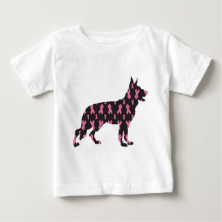 German-Shepherd-Cancer-Ribbon-Black Baby T-Shirt