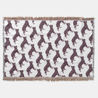 German-Shepherd-Cancer-Ribbon-Black Throw Blanket
