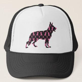 German-Shepherd-Cancer-Ribbon-Black Trucker Hat