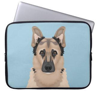 german shepherd cartoon computer sleeves