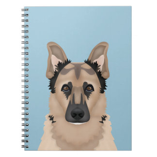 German Shepherd cartoon Note Books
