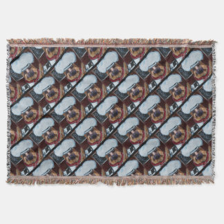 German Shepherd Chef Throw Blanket