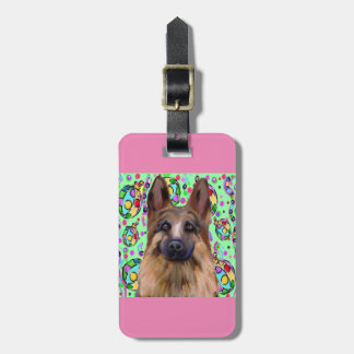 German Shepherd Christmas Bag Tag