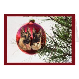 German Shepherd Christmas Ball Hanging3 Card