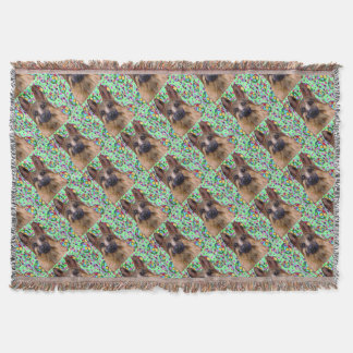 German Shepherd Christmas Throw Blanket