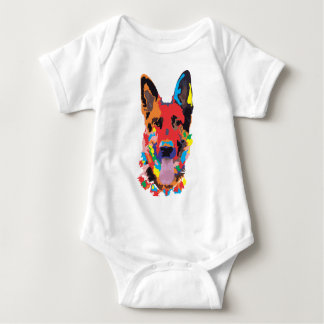 German shepherd color baby bodysuit