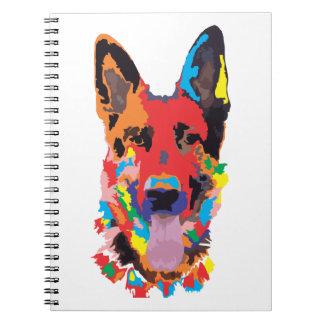 German shepherd color note books