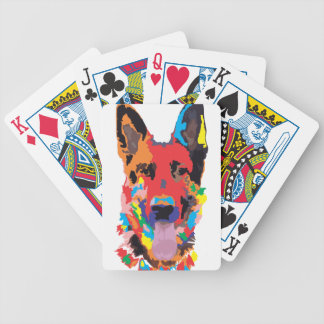 German shepherd color poker deck