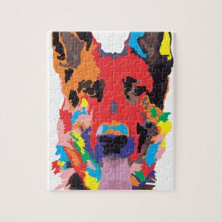 German shepherd color puzzles