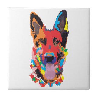 German shepherd color tile