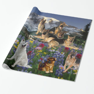 German Shepherd Country Wrapping Paper