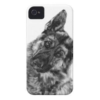 "German Shepherd ""Curious"" Case-Mate iPhone 4 Case"