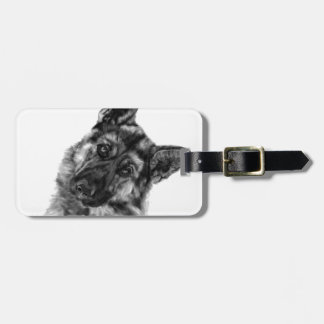 "German Shepherd ""Curious"" Luggage Tag"