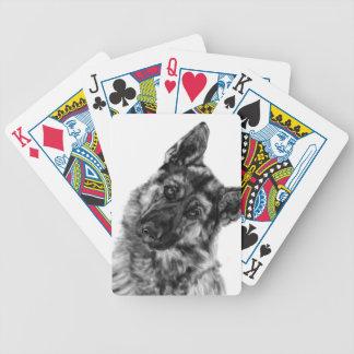"German Shepherd ""Curious"" Poker Deck"