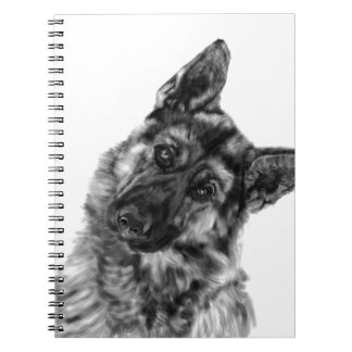 "German Shepherd ""Curious"" Spiral Notebook"