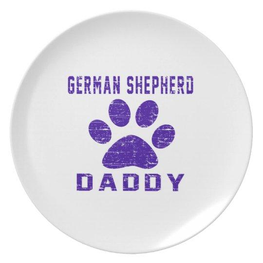 German Shepherd Daddy Gifts Designs Plate