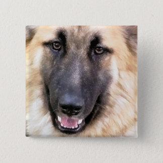 GERMAN SHEPHERD DOG 2 INCH SQUARE BUTTON