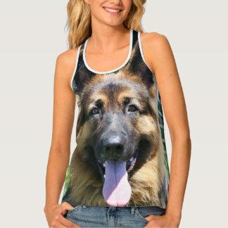 German Shepherd dog all over print tank tops