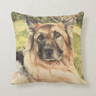 German Shepherd Dog Art Cushion