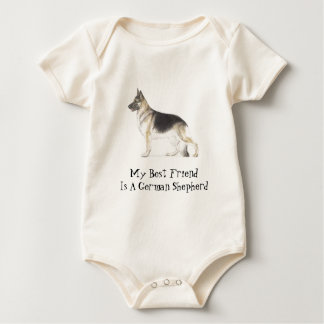 German Shepherd Dog Baby Bodysuit