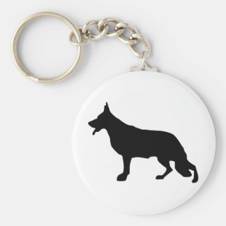 German Shepherd Dog black Keychain