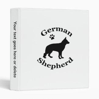 german shepherd dog black silhouette paw print binder