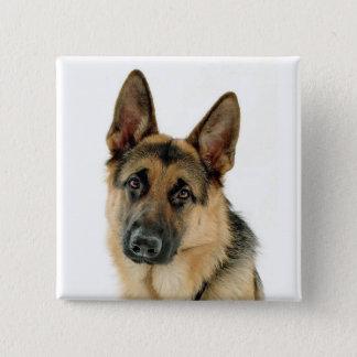 German Shepherd Dog Button Pin