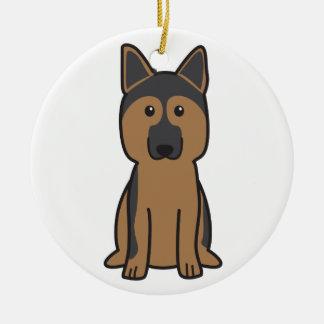 German Shepherd Dog Cartoon Ceramic Ornament