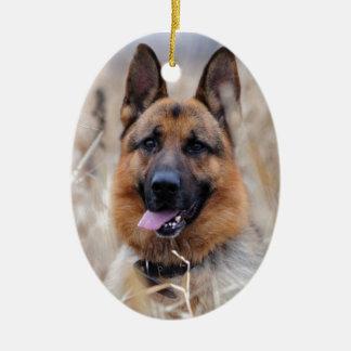 German Shepherd Dog Ceramic Ornament